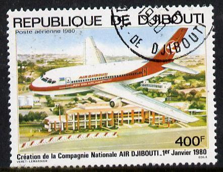 Djibouti 1980 Air LABEL -Djibouti 400f cto used, SG 782*
