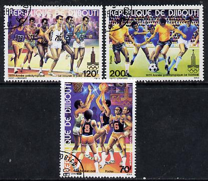 Djibouti 1979 Pre Olympic Year set of 3 cto used, SG 771-73*