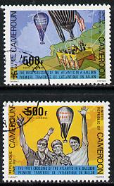 Cameroun 1979 First Atlantic Balloon Crossing set of 2 cto used, SG 871-72*
