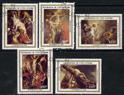Ivory Coast 1983 Easter (Paintings) set of 5 cto used, SG 765-69**