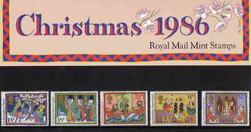 Great Britain 1986 Christmas - Folk Customs set of 5 in official presentation pack SG 1341-46