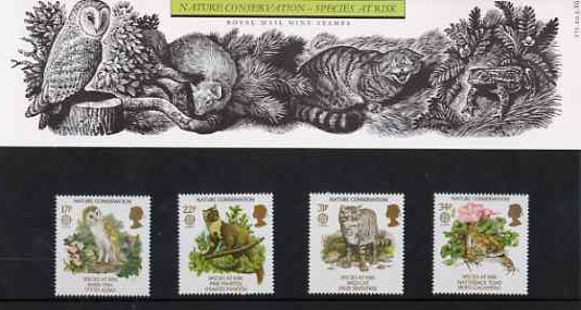 Great Britain 1986 Europa - Nature Conservation set of 4 in official presentation pack, SG 1320-23