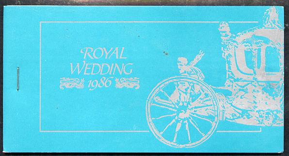 Booklet - Tuvalu - Nukulaelae 1986 Royal Wedding (Andrew & Fergie) $6.40 booklet, State Coach in silver, panes imperf