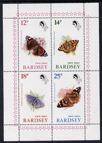 Bardsey (British Local) 1981 Butterflies set of 4 (12p, 14p, 18p & 25p) unmounted mint