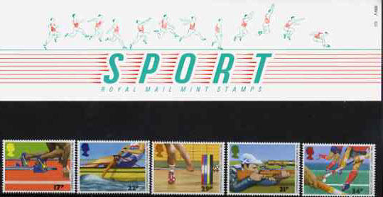 Great Britain 1986 Commonwealth Games & World Hockey Cup set of 5 in official presentation pack, SG 1328-32