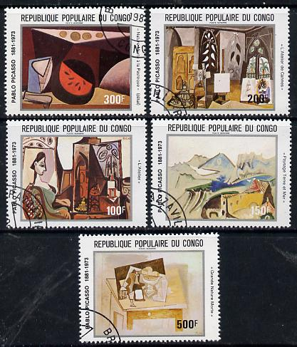 Congo 1981 paintings by Picasso set of 5 cto used, SG 816-20*