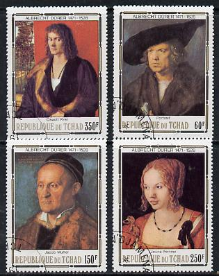 Chad 1978 Death Anniversary of Durer (Paintings) set of 4 cto used, SG 537-40