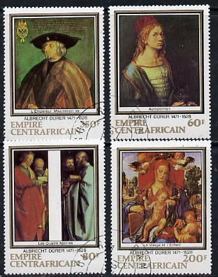 Central African Republic 1978 Death Anniversary of Durer (Paintings) set of 4 cto used, SG 592-95*