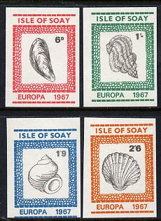 Isle of Soay 1967 Europa (Shells) imperf set of 4 unmounted mint
