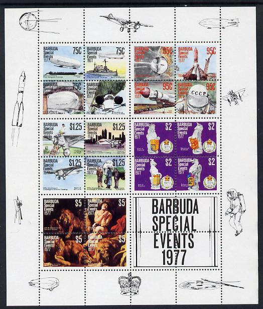 Barbuda 1977 Special Events m/sheet unmounted mint, SG MS 383