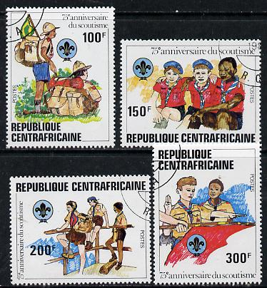 Central African Republic 1982 75th Anniversary of Scouting set of 4 cto used, SG 815-18*