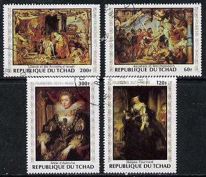 Chad 1978 Birth Anniversary of Rubens (Paintings) set of 4 cto used, SG 541-44*