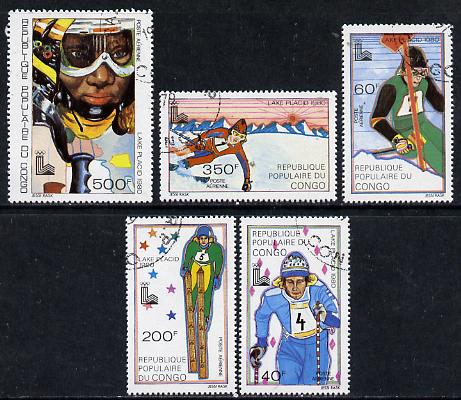 Congo 1979 Winter Olympics set of 5 cto used, SG 704-08*