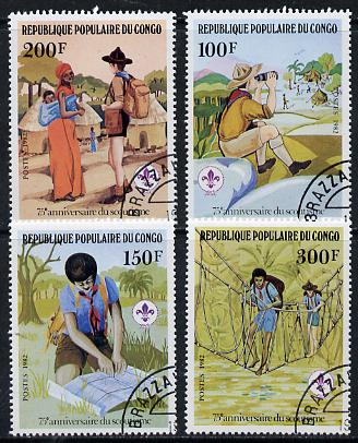 Congo 1982 75th Anniversary of Scouting set of 4 cto used, SG 850-53*