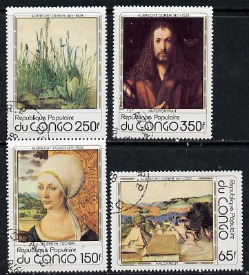Congo 1978 Death Anniversary of Durer (Paintings) set of 4 cto used, SG 647-50