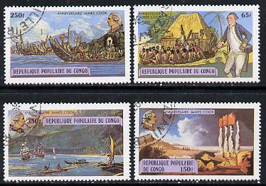 Congo 1979 Death Bicentenary of Capt James Cook set of 4 cto used, SG 660-63