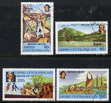 Central African Republic 1978 250th Birth Anniversary of James Cook set of 4 cto used, SG 578-81*