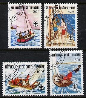 Ivory Coast 1982 75th Anniversary of Scouting set of 4 cto used, SG 721-24*