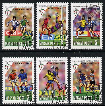 Hungary 1990 Football World Cup Championships set of 6 cto used, SG 3978-83*