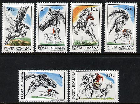 Rumania 1992 Horses perf set of 6 unmounted mint, Mi  4784-89, SG 5432-37*