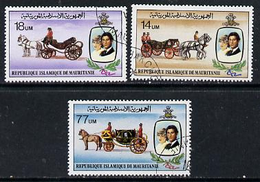 Mauritania 1981 Royal Wedding set of 3 cto used, SG 701-03, Mi 726-28*
