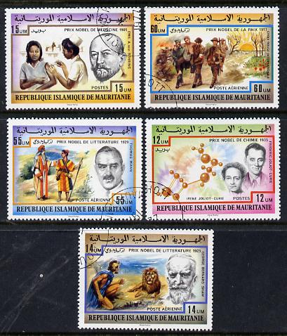 Mauritania 1977 Nobel Prize Winners set of 5 cto used, SG 541-45*