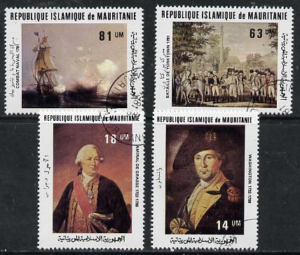 Mauritania 1981 Bicentenary of battles (USA) set of 4 cto used, SG 705-08*