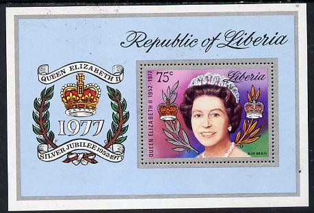 Liberia 1977 Silver-Jubilee perf m/sheet unmounted mint, SG MS 1323