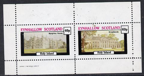 Eynhallow 1982 Stately Homes #1 perf  set of 2 values unmounted mint
