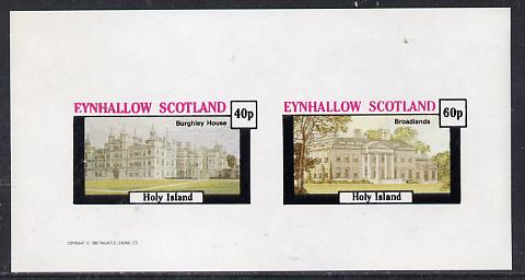 Eynhallow 1982 Stately Homes #1 imperf  set of 2 values unmounted mint
