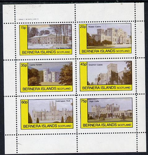 Bernera 1982 Stately Homes #3 perf set of 6 values (15p to 75p) unmounted mint