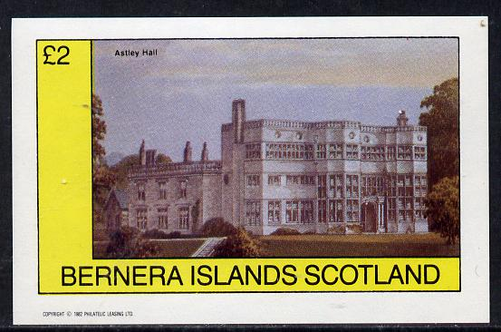 Bernera 1982 Stately Homes #3 imperf deluxe sheet (�2 value) unmounted mint