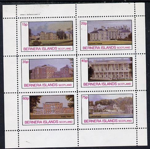 Bernera 1982 Stately Homes #2 perf set of 6 values (15p to 75p) unmounted mint