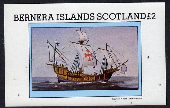 Bernera 1981 Santa Maria imperf deluxe sheet (�2 value) unmounted mint