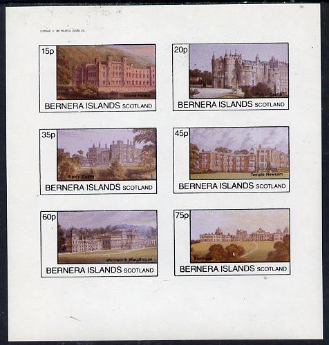 Bernera 1982 Stately Homes #4 imperf set of 6 values (15p to 75p) unmounted mint