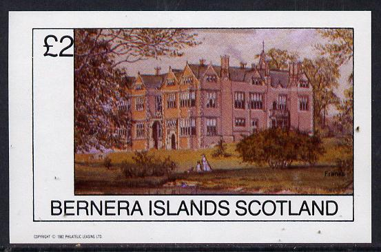 Bernera 1982 Stately Homes #4 imperf deluxe sheet (�2 value) unmounted mint