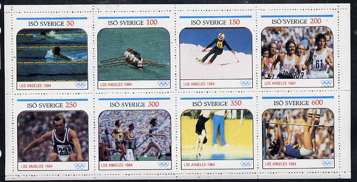 Iso - Sweden 1984 Los Angeles Olympic Games perf  set of 8 values (50 to 600) unmounted mint