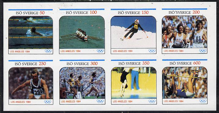 Iso - Sweden 1984 Los Angeles Olympic Games imperf  set of 8 values (50 to 600) unmounted mint