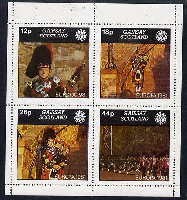 Gairsay 1981 EUROPA (Scottish Pipers) perf  set of 4 values (12p to 44p) unmounted mint