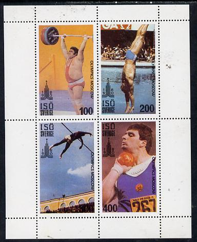 Iso - Sweden 1980 Olympic Games perf  set of 4 values (100 to 400) unmounted mint