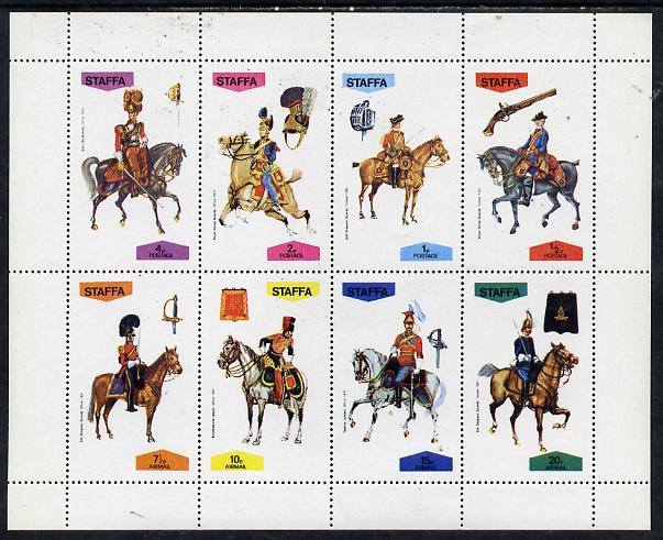 Staffa 1974 Military Uniforms (On Horse-back) perf  set of 8 values (0.5p to 20p) unmounted mint