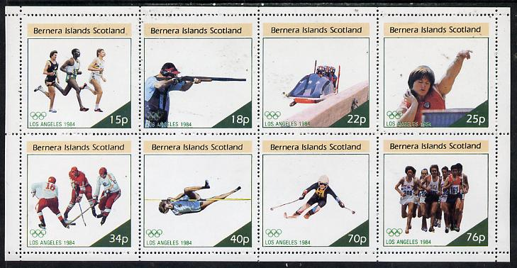 Bernera 1984 Los Angeles Olympic Games perf  set of 8 values (15p to 76p) unmounted mint