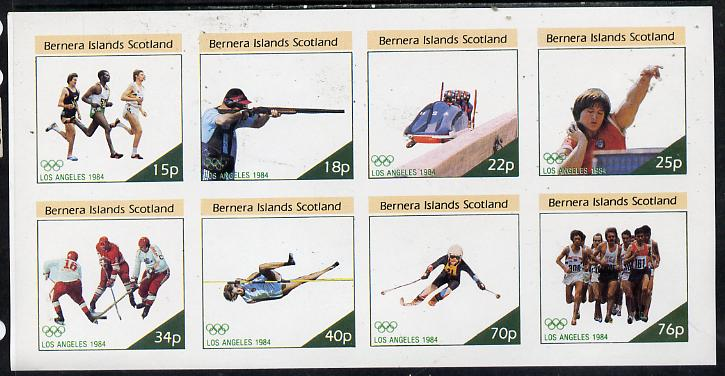 Bernera 1984 Los Angeles Olympic Games imperf  set of 8 values (15p to 76p) unmounted mint