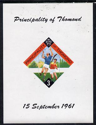 Thomond 1961 Hurling 3d (Diamond-shaped) imperf m/sheet unmounted mint