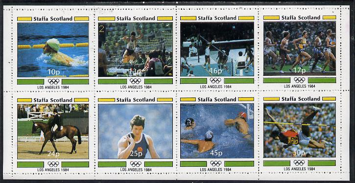 Staffa 1984 Los Angeles Olympic Games perf  set of 8 values (10p to 50p) unmounted mint