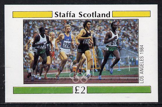 Staffa 1984 Los Angeles Olympic Games (Running) imperf deluxe sheet (�2 value) unmounted mint