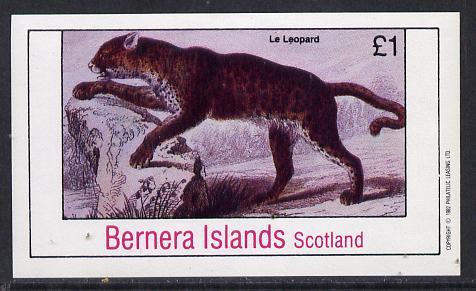 Bernera 1982 Animals (Leopard) imperf souvenir sheet (�1 value) unmounted mint