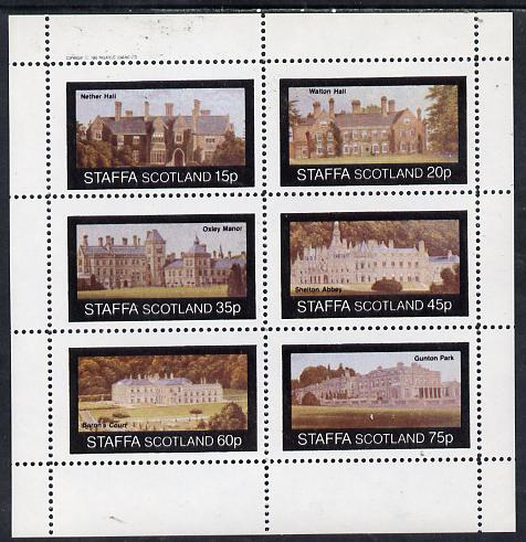 Staffa 1982 Stately Homes #1 perf set of 6 values (15p to 75p) unmounted mint
