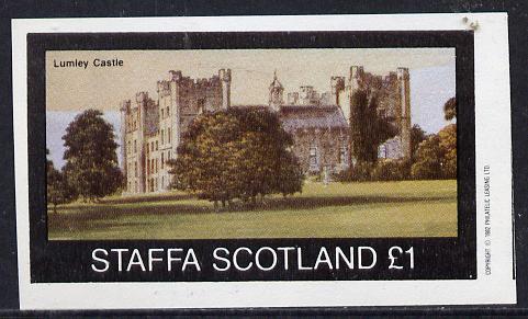 Staffa 1982 Castles imperf souvenir sheet (�1 value) unmounted mint