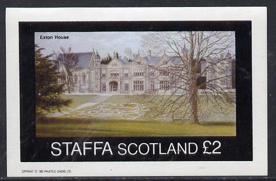Staffa 1982 Stately Homes #1 imperf deluxe sheet (�2 value) unmounted mint